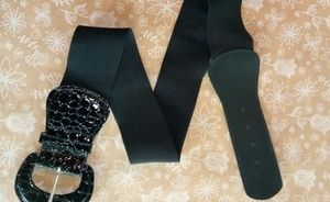 Black Elastic Alligator Belt Sz L/XL